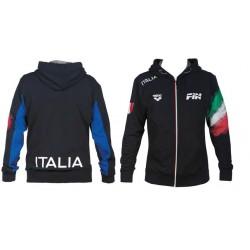 Felpa Arena Italia FIN Hooded Jaket